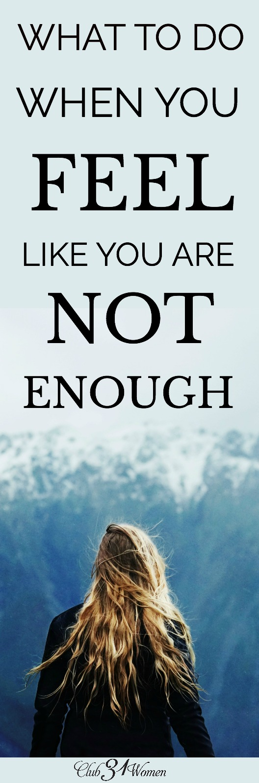 "Sometimes when we feel like we are not enough, it can me we have taken on more than we can rightly handle. We need to be brave enough to say ""no"" more. via @Club31Women"
