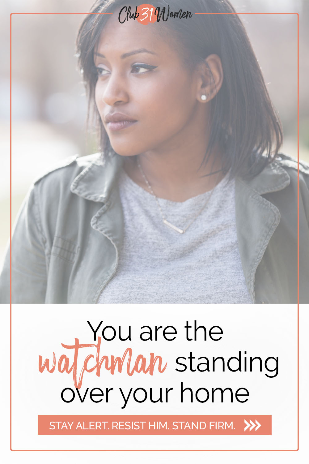 As moms who shoulder a lot of the decisions in our homes, thank God that we have a heavenly watchman and nothing escapes His gaze. via @Club31Women