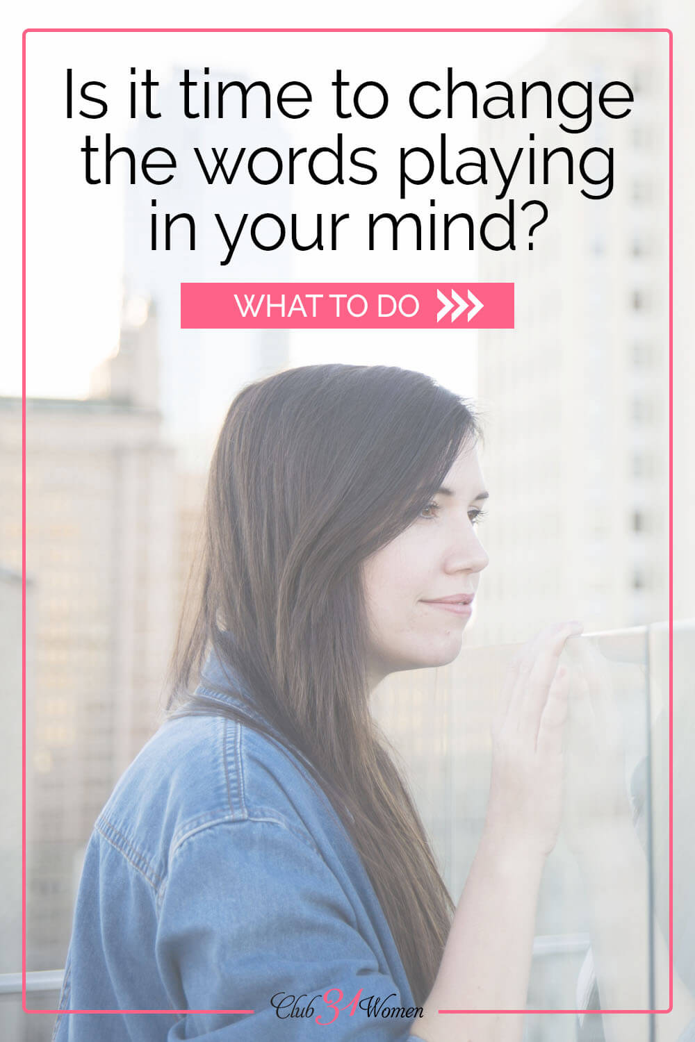 How can you change the tape of negativity reeling through your mind when it seems everything is going wrong? Soak in His truth. via @Club31Women