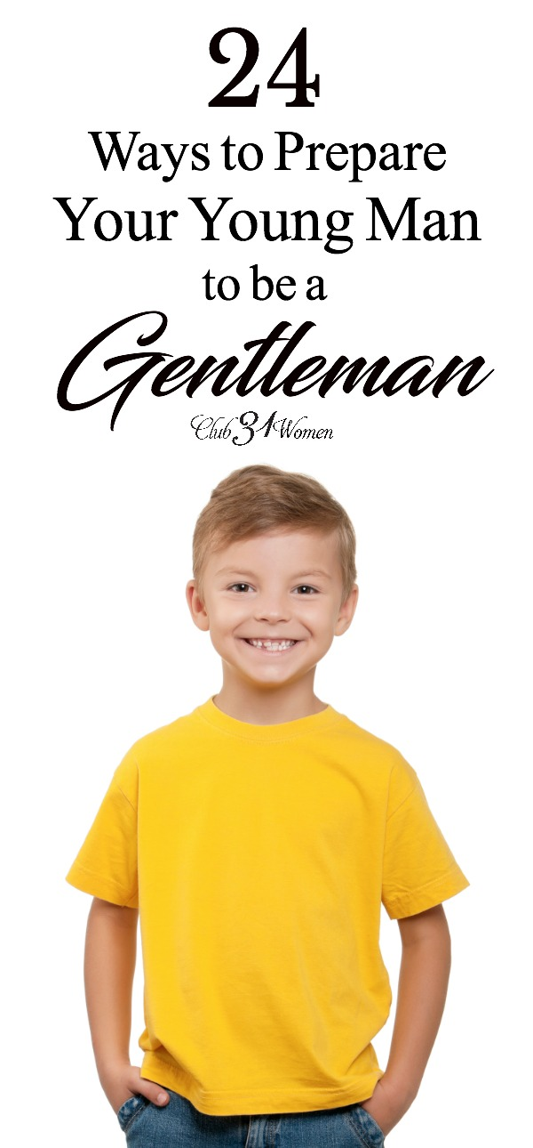 Boys will be boys! But how do you raise up a son so that he is also kind and polite? Strong and thoughtful? Here's how to bring him up to be a gentleman.... via @Club31Women