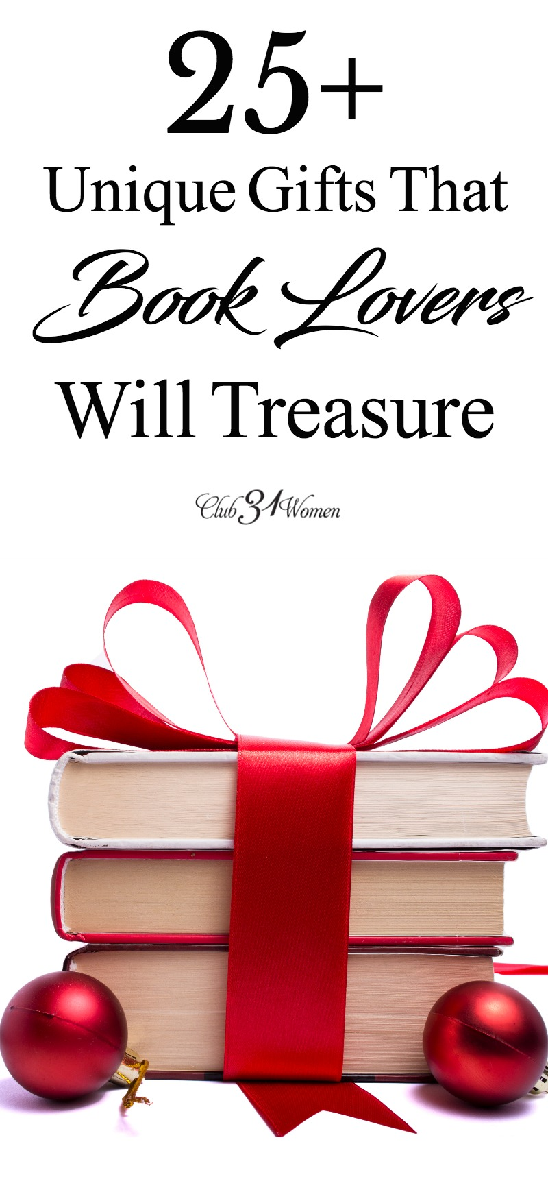 What other ideas for book lovers can you give as gifts in addition to books? We have you covered from books to book quote mugs to totes and more! via @Club31Women