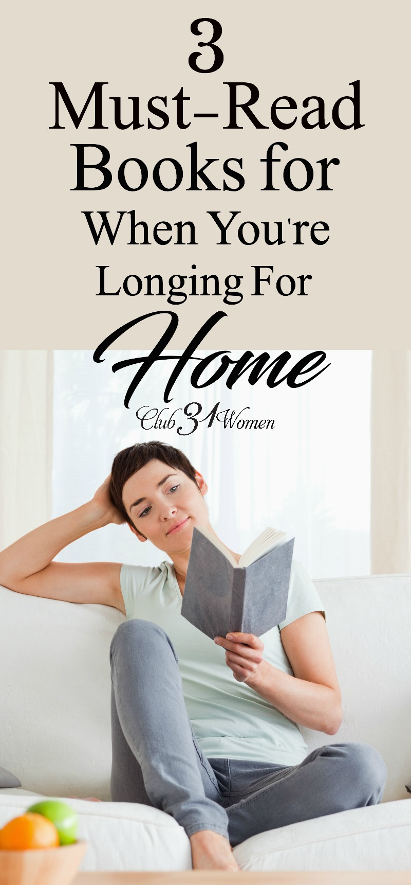 What does home mean to you? If you're ready to get lost in a book that pulls you into a place that calls you home, check out these great book recommendations! via @Club31Women