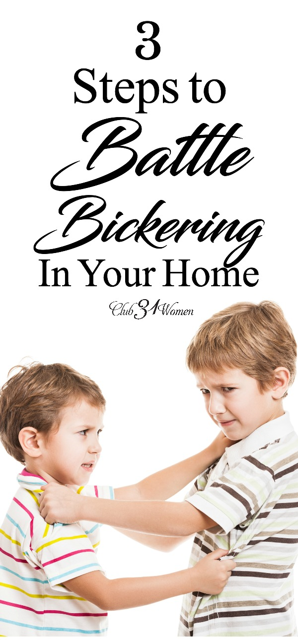 How do you stop bickering in your home? How can you establish a peaceful home with kind words for each other? Try taking these radical steps.... via @Club31Women