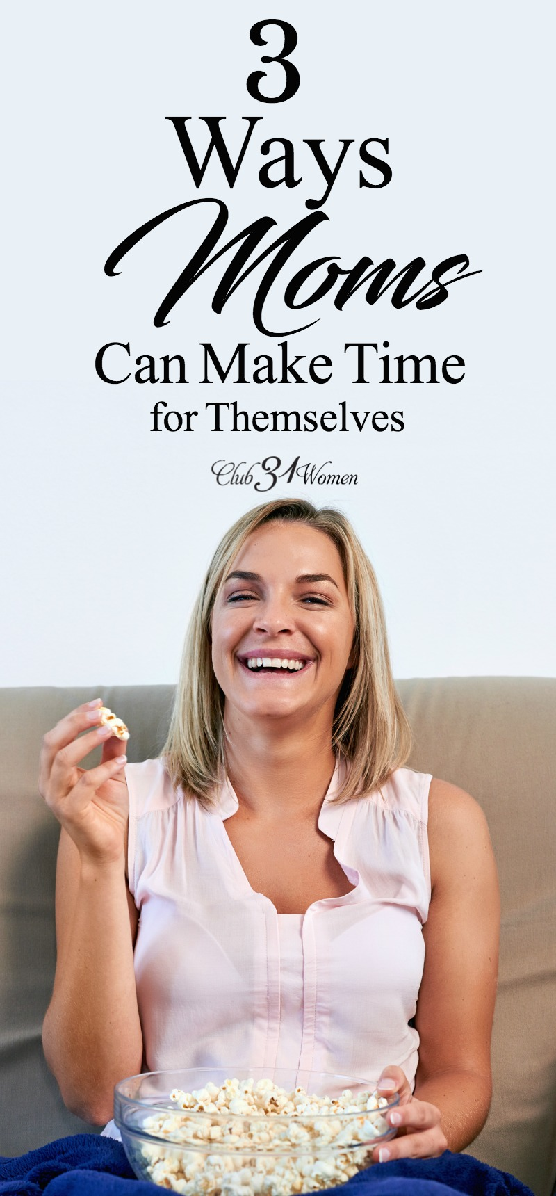 As moms, we need to make time for ourselves in order to stay refreshed and be at our best for our family. Here are a few ways to do that... via @Club31Women