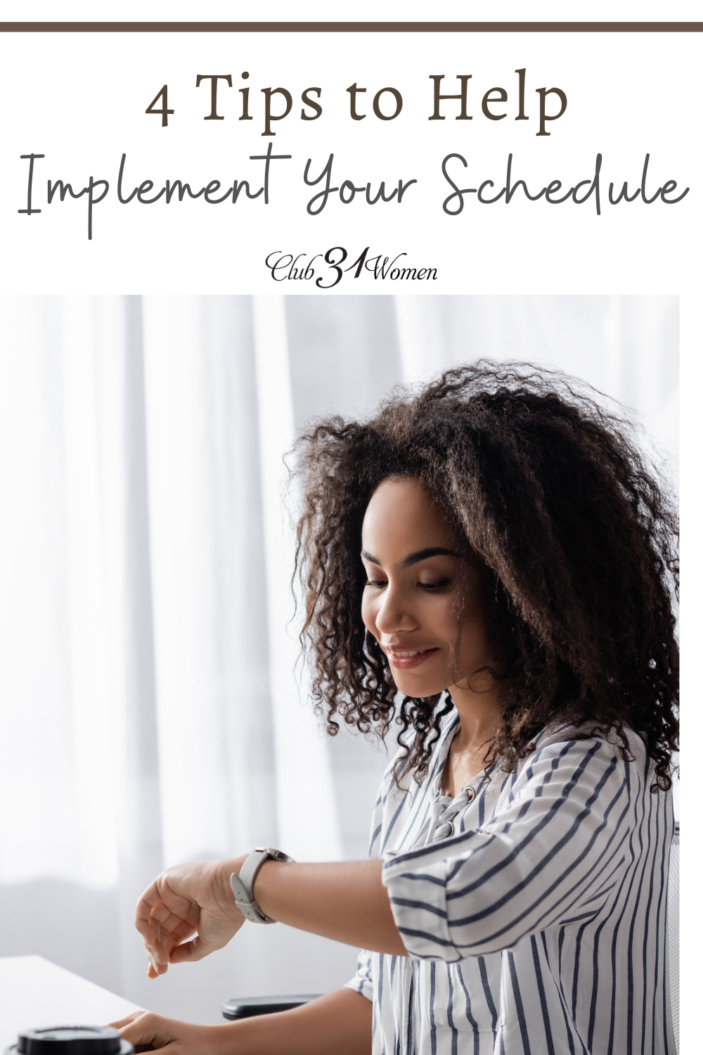 Creating a schedule and implementing a schedule can seem like worlds apart. But there a few steps you can take to help you get there. via @Club31Women