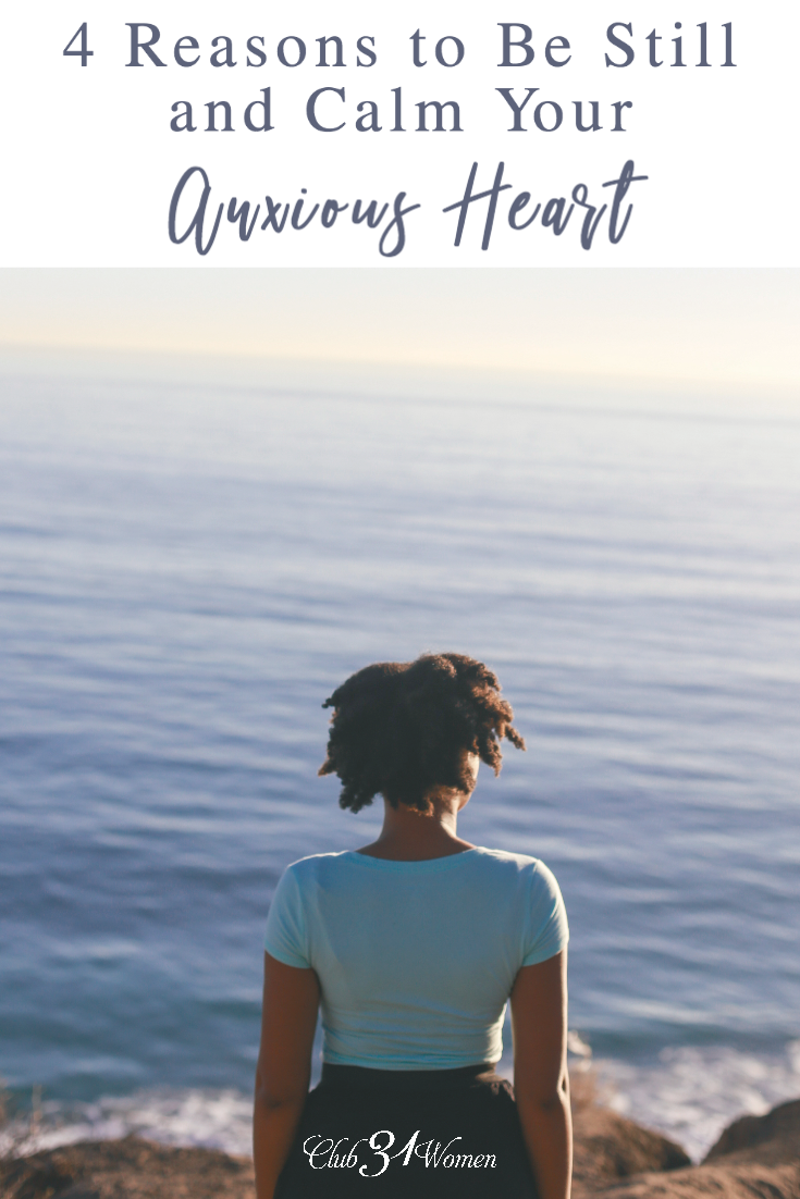 Are you prone to worry? That anxiety can lead to stress, poor sleep, and bad attitudes towards your family. So here's how to calm your anxious heart.... via @Club31Women