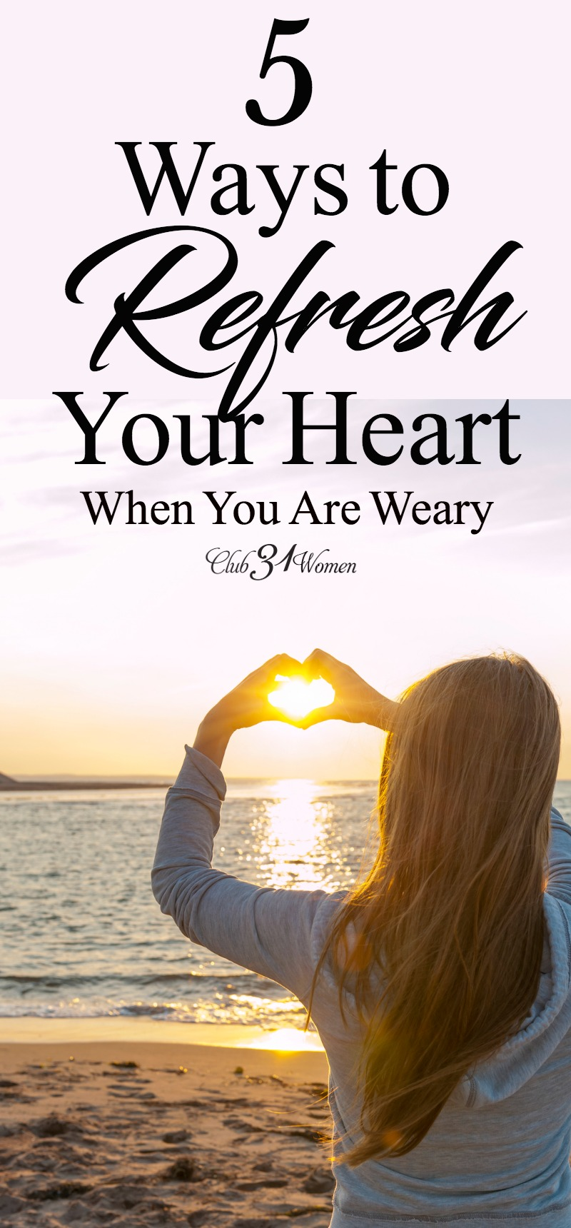 When your heart is weary, how can you refresh? When life drains you, how can you be filled again? God wants to meet you right where you are... via @Club31Women