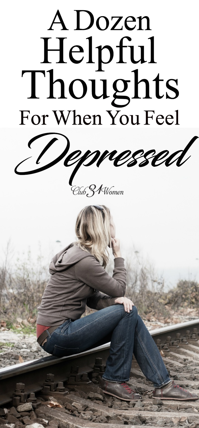 Depression comes uninvited, but it does come at times and can be hard to shake. What can you do when you are feeling depressed? via @Club31Women