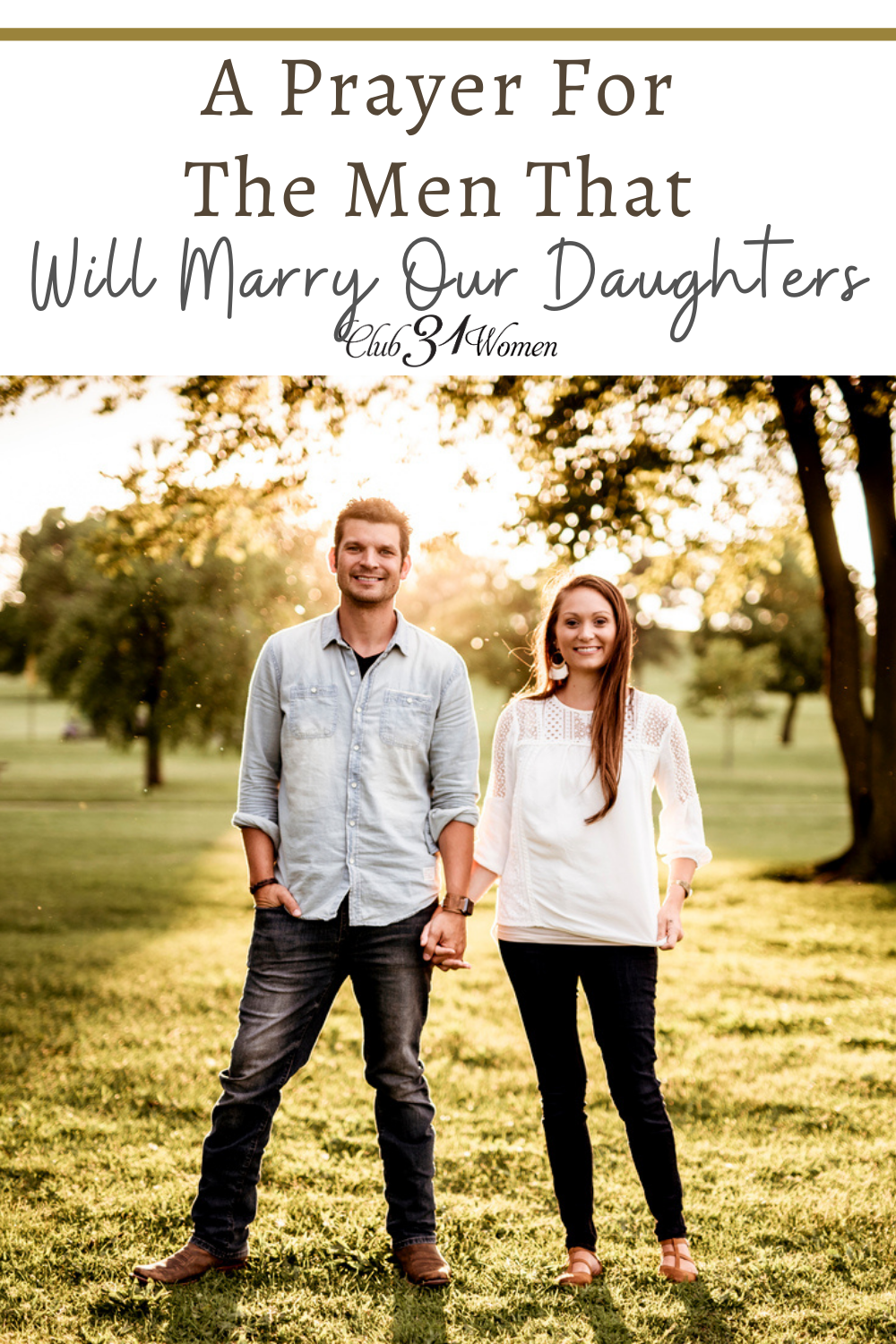 My prayer for this young man who will one day marry my daughter. As tears roll down my cheeks, I cry out to you to bless, protect and direct his life. via @Club31Women