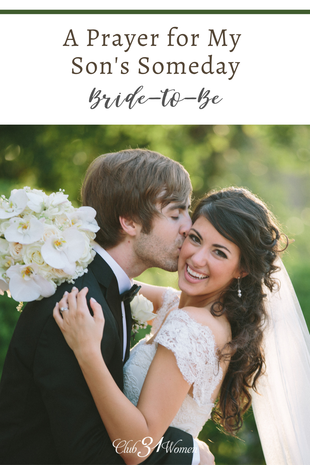 So beautiful!! With all that's going on in the world, here's a hope-filled prayer for the bride-to-be.... ~ Club31Women via @Club31Women