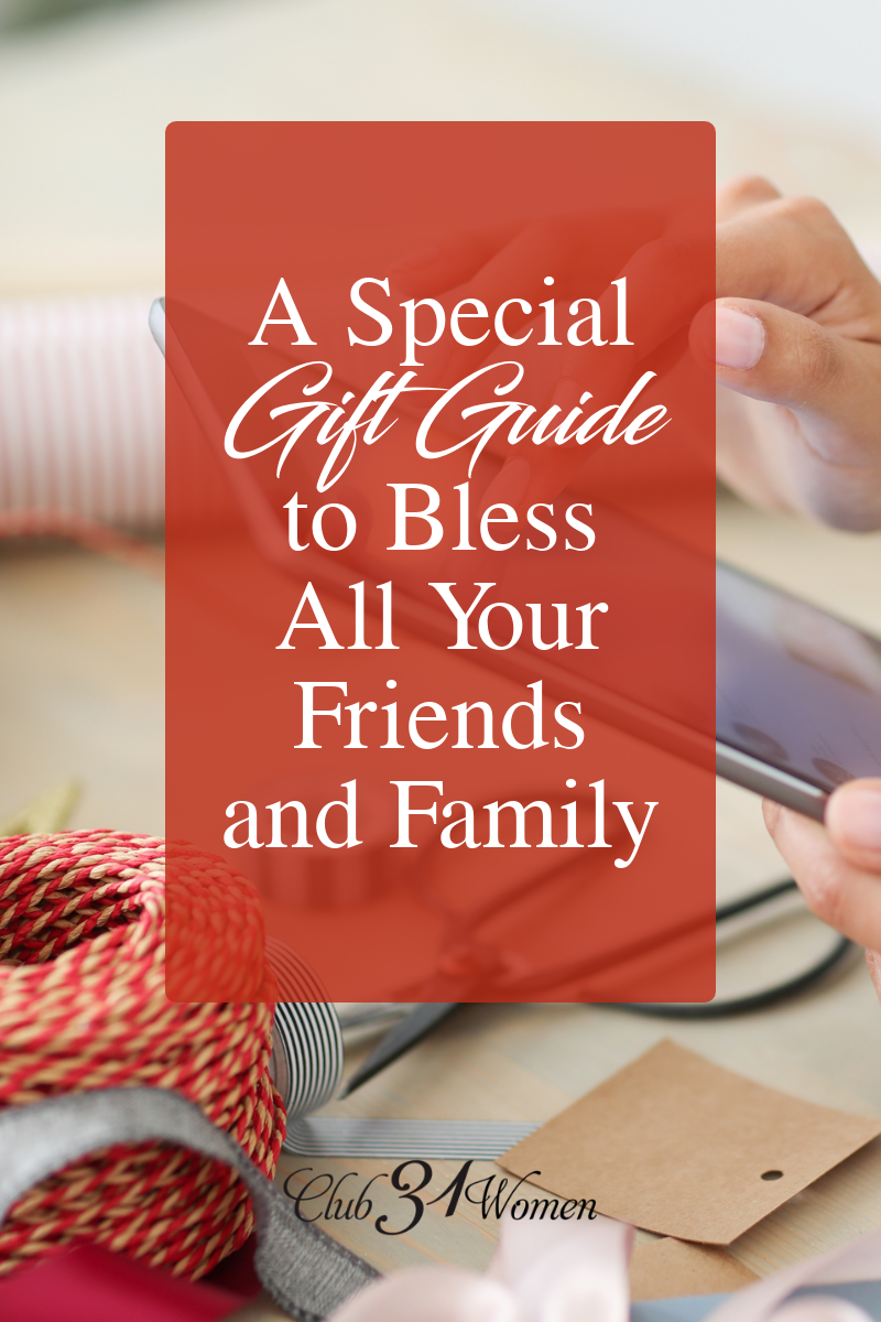 I enjoy giving gifts that are lovely and meaningful. The kind of gift that the people I love will treasure long after the holidays are over. That kind of gift. via @Club31Women