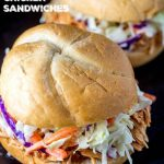 Slow-Cooker BBQ Chicken Sandwiches