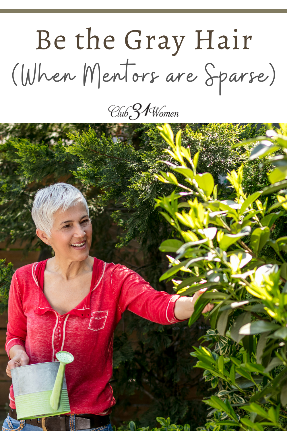 Do you know how hard it is to find mentors today? Maybe you can be the one who links arms with a younger woman for a season? via @Club31Women