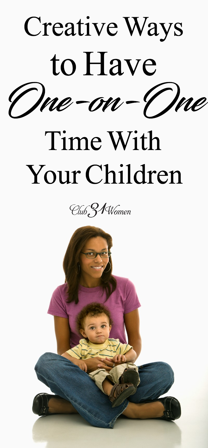 It can be challenging to set aside one-on-one time with our children. But it's important to recognize them as individuals. Here are a few ways you can... via @Club31Women