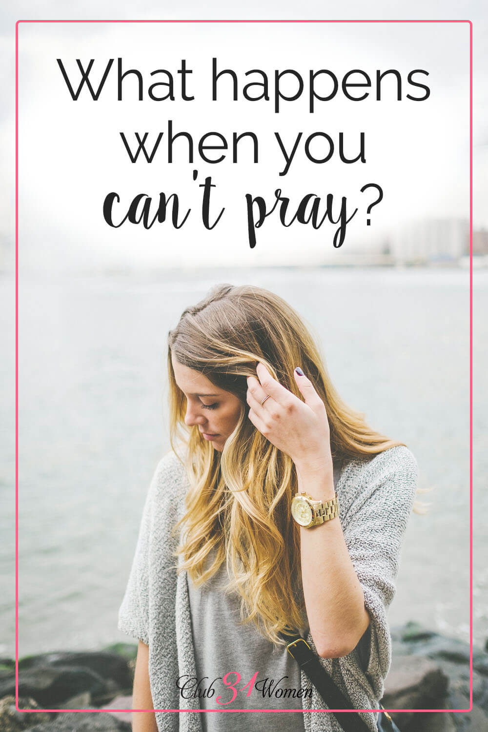 What if you desperately need prayer, but can't seem to pray for yourself? Here's encouragement to find prayer support from the sisters in Christ around you! via @Club31Women