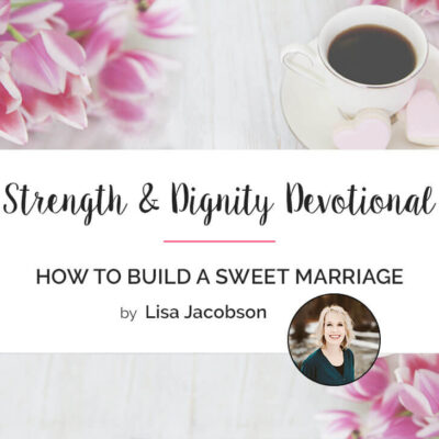 How to Build a Sweet Marriage