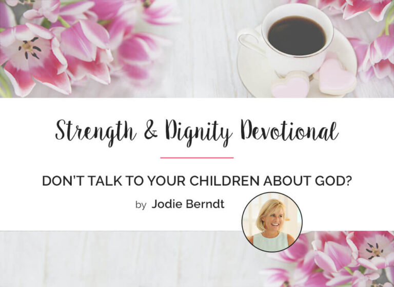 Don't Talk to Your Kids about God?