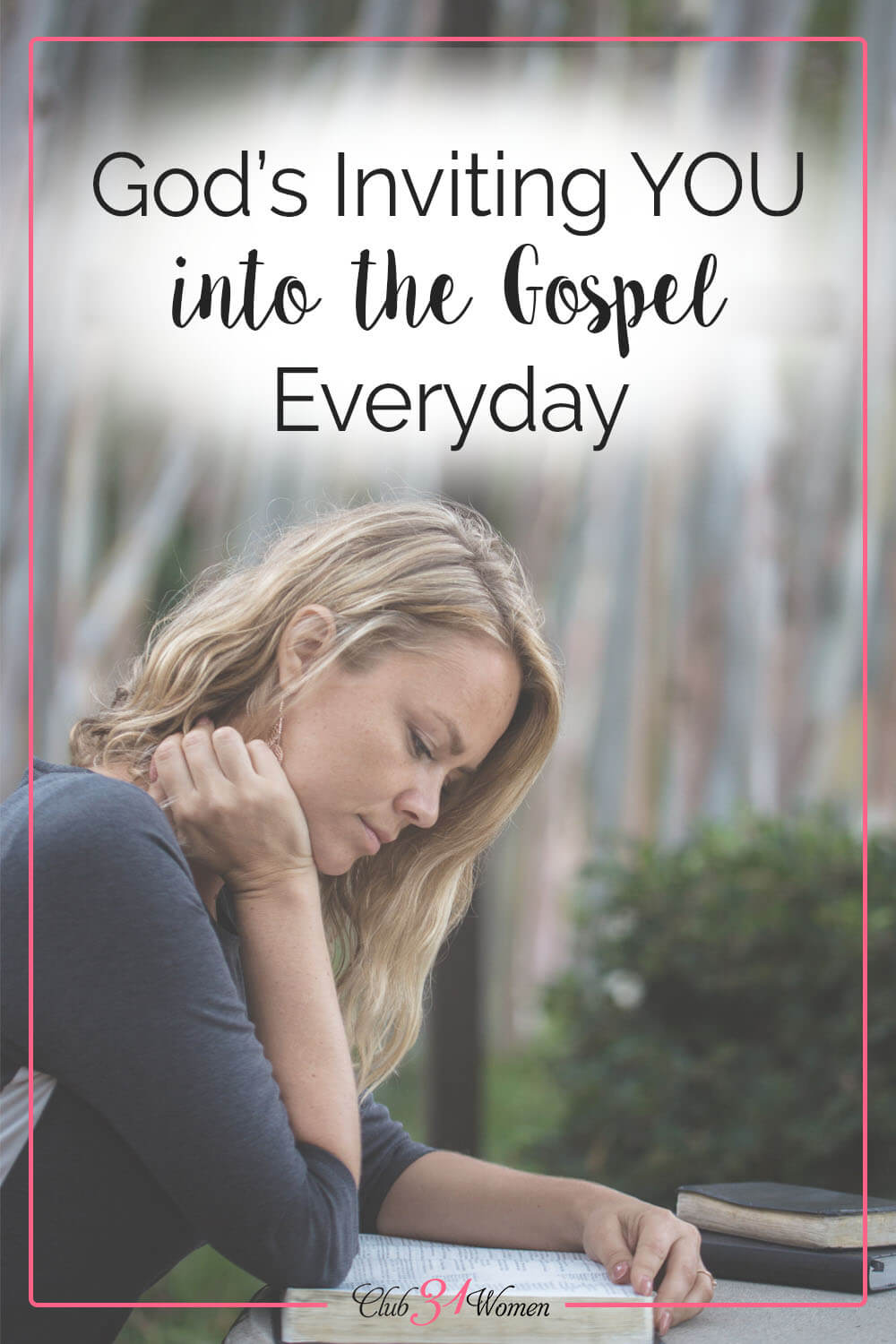 The gospel is extended to us as an invitation. We are not forced or coerced or bribed -- we are invited. Will we show up? via @Club31Women