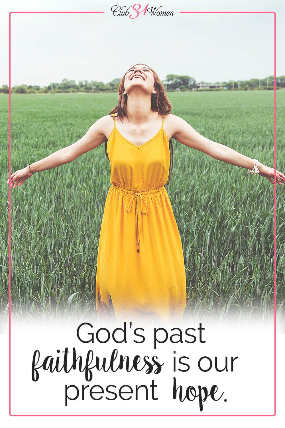God's faithfulness is the reason we can hope. As we walk in His word, His faithfulness follows us as a promise fulfilled. via @Club31Women