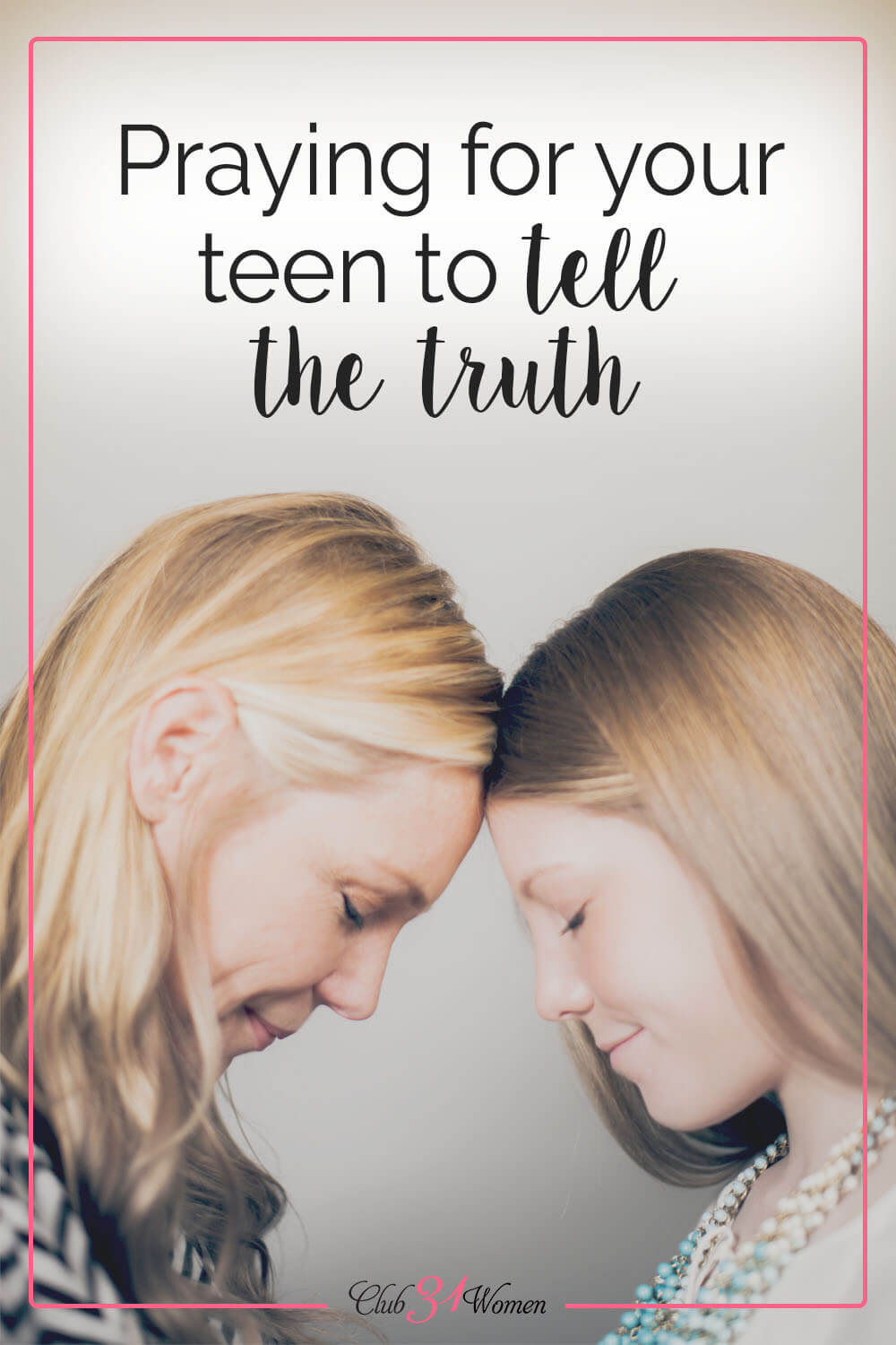 A mother often knows when her teen lies. But what can you do? There are a few things you can do to help your teen tell the truth. via @Club31Women