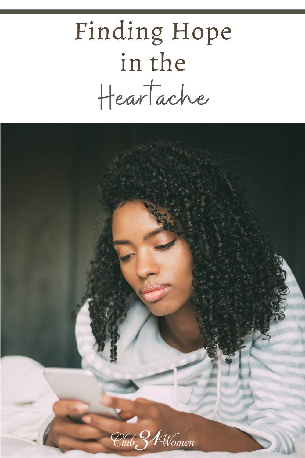 Have you ever struggled to pull yourself out of a rut when heartache seeks to just devour you? There is hope. via @Club31Women