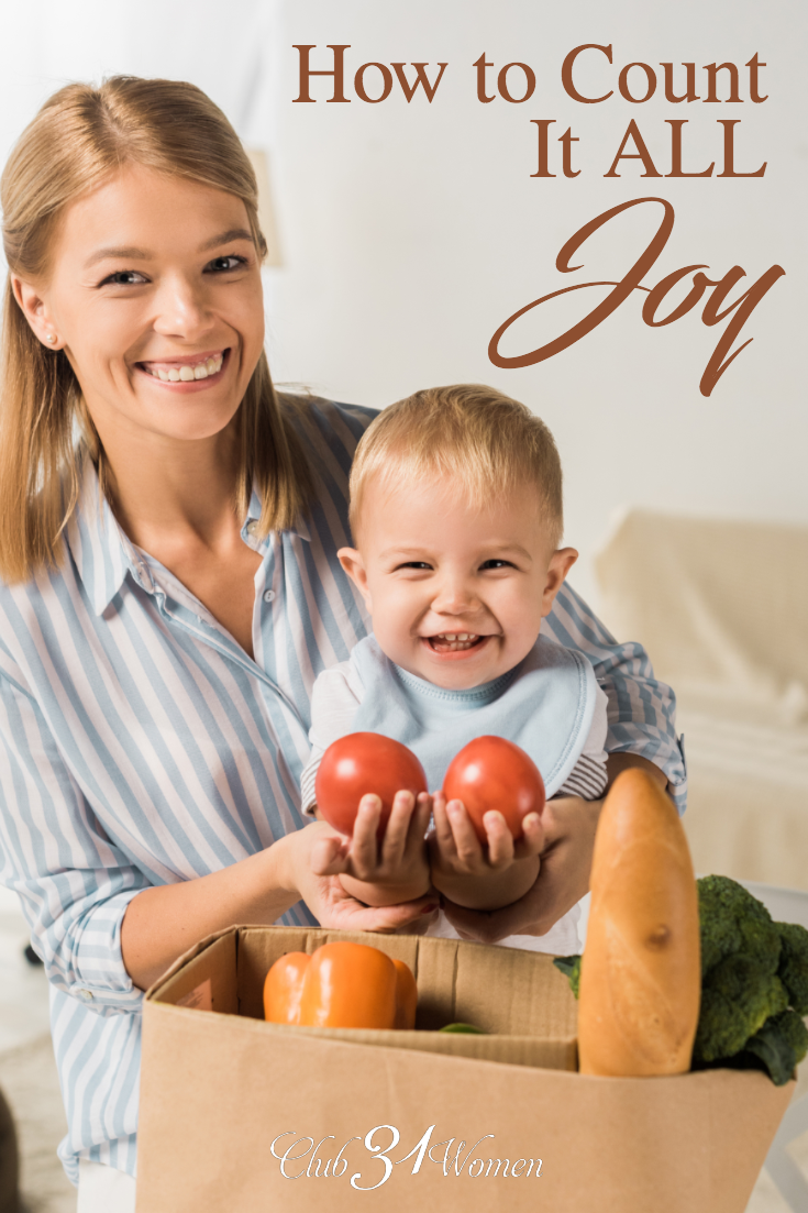 How do we count it all joy when our circumstances turn less than ideal? When things irritate us? How can we prevent the little irritations from robbing us? via @Club31Women