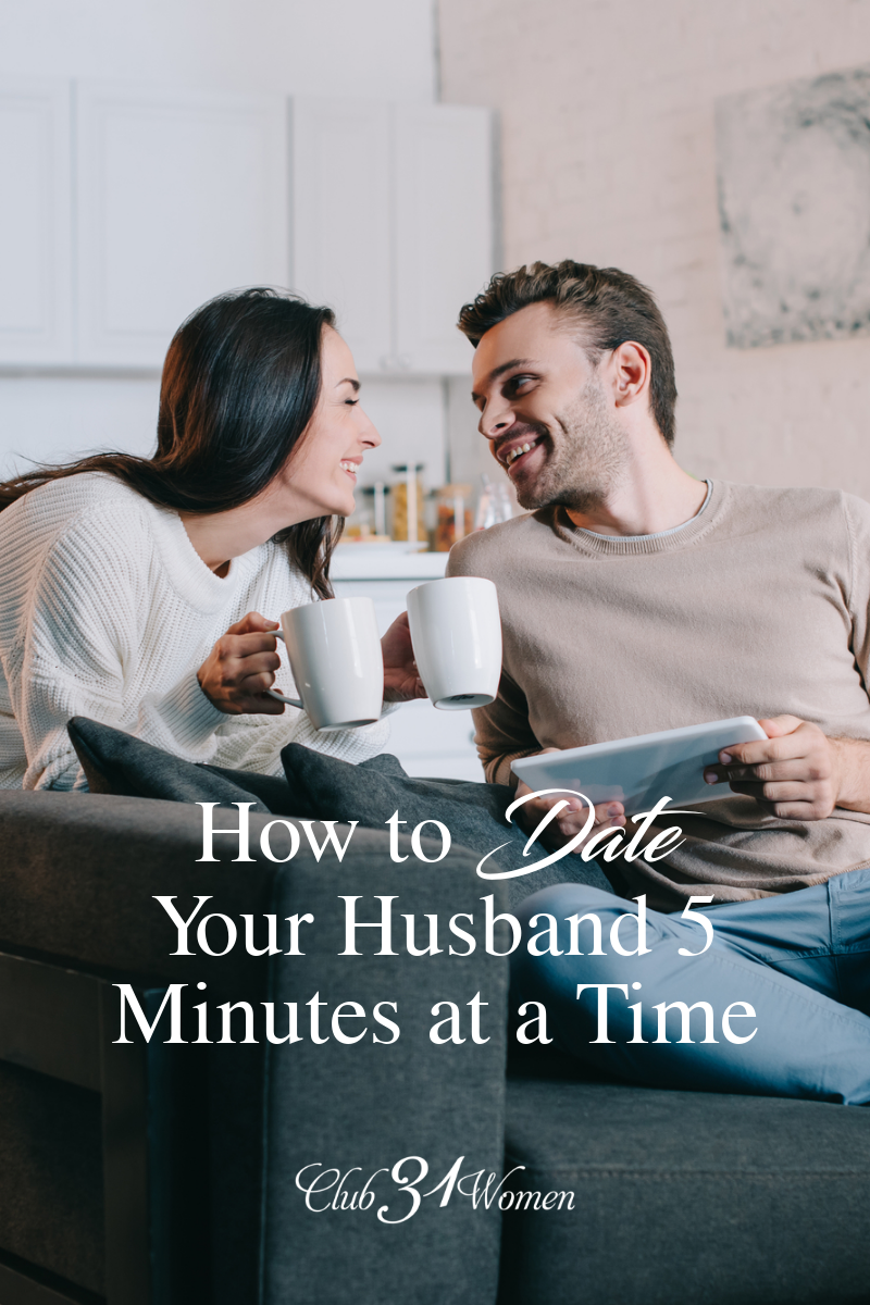 Are you in a season where going out on a date with your husband just isn't reality? What if there was another idea of dating you may not have thought of? via @Club31Women