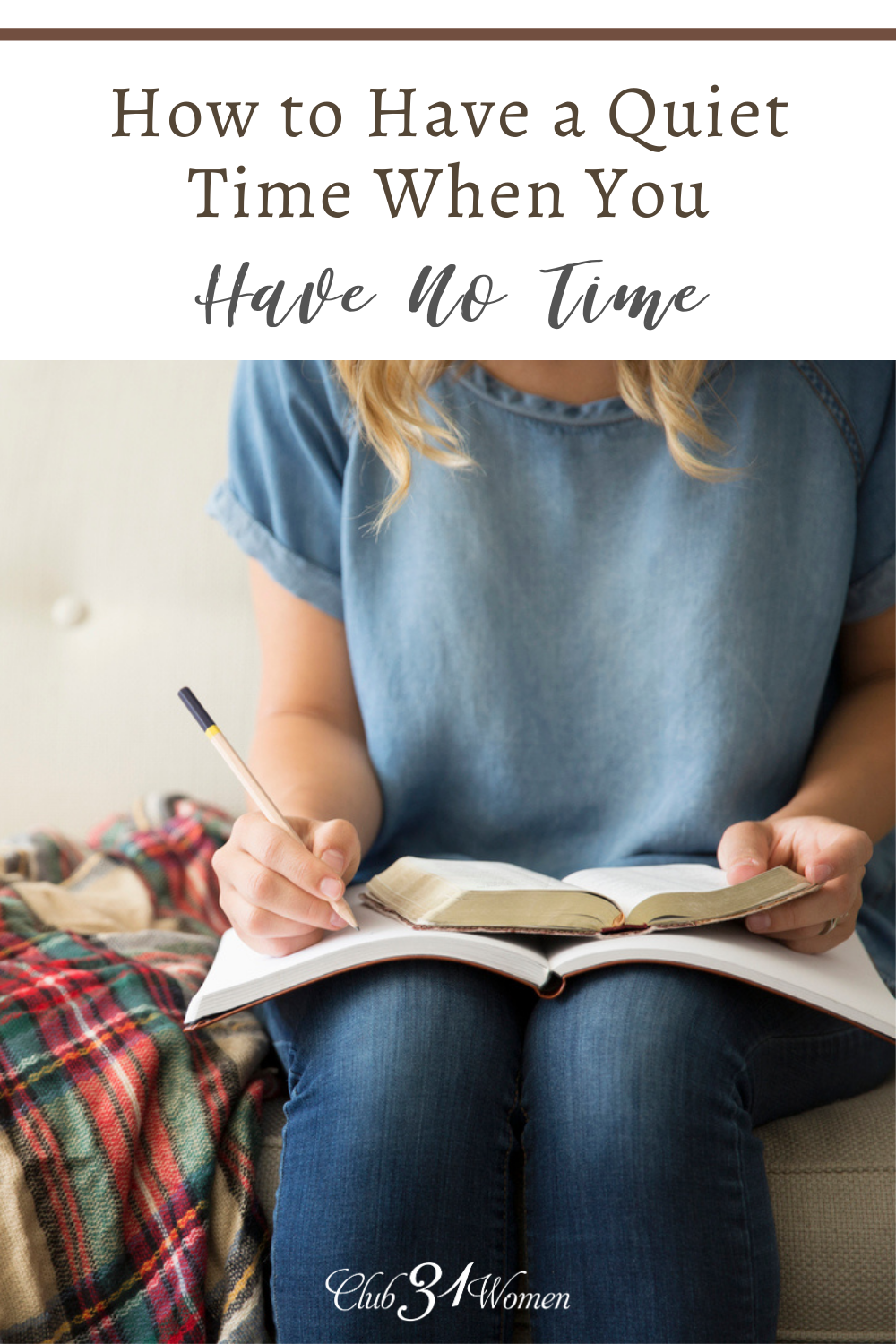 Do you struggle to maintain a consistent quiet time? Here are some practical suggestions to encourage you to seek the Lord every day. via @Club31Women