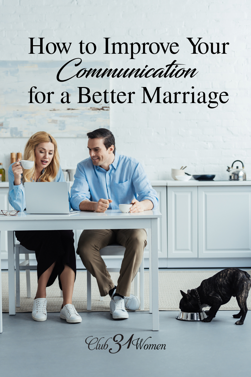 So how is communication with your spouse? Are you kind and patient with one another in your everyday kind of conversation? How about difficult issues? via @Club31Women