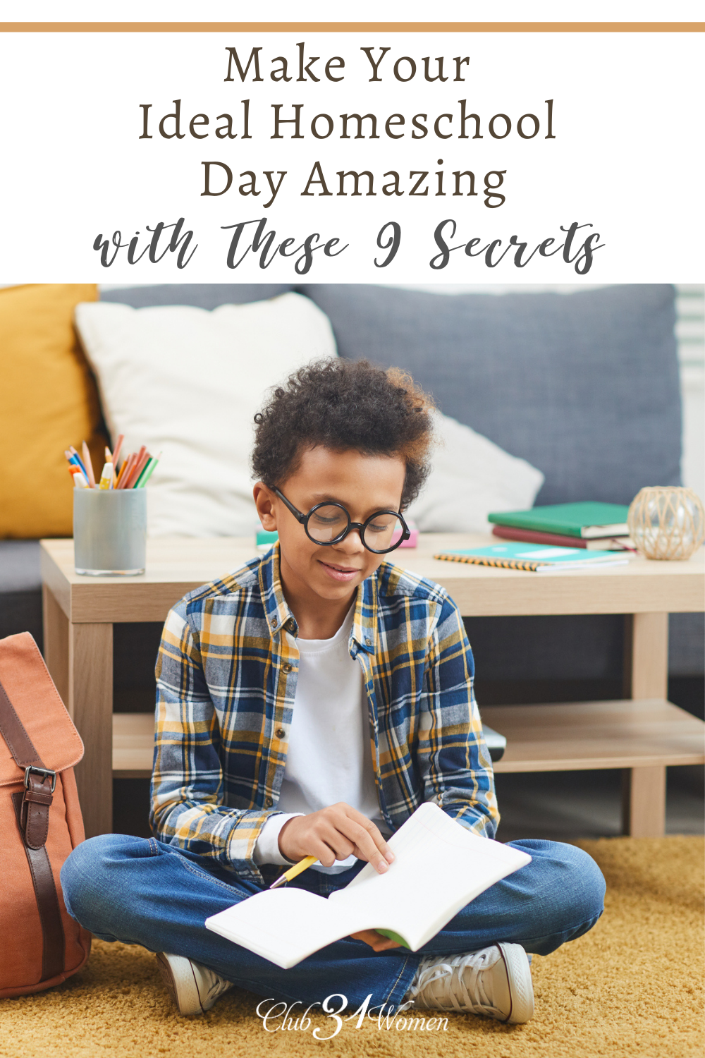 We often overestimate our ideal homeschool day, sending us into a frenzy of stress and overwhelming ourselves and our children. Simplify it. via @Club31Women