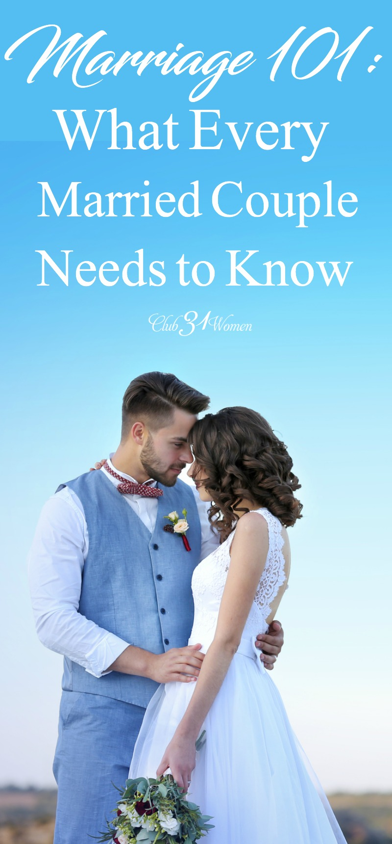 They might not have covered this in your premarital counseling - but they probably should have! Here's what you should really know about love and marriage! via @Club31Women