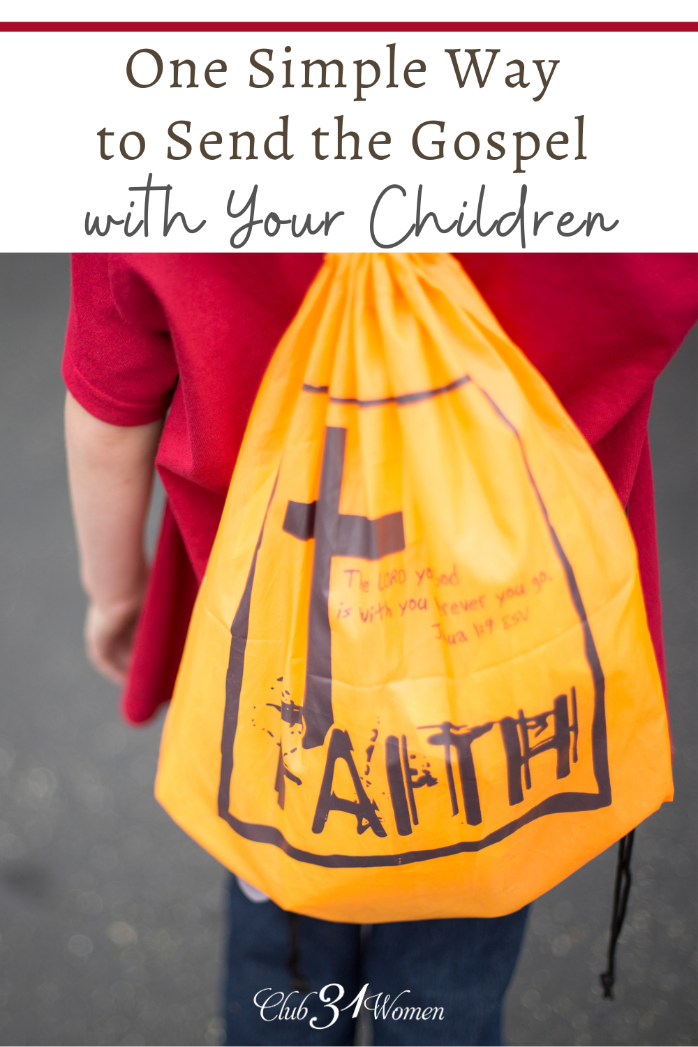Maybe you're struggling to find a practical way for your kids to share the gospel. This is an excellent way to help them spread God's love! via @Club31Women