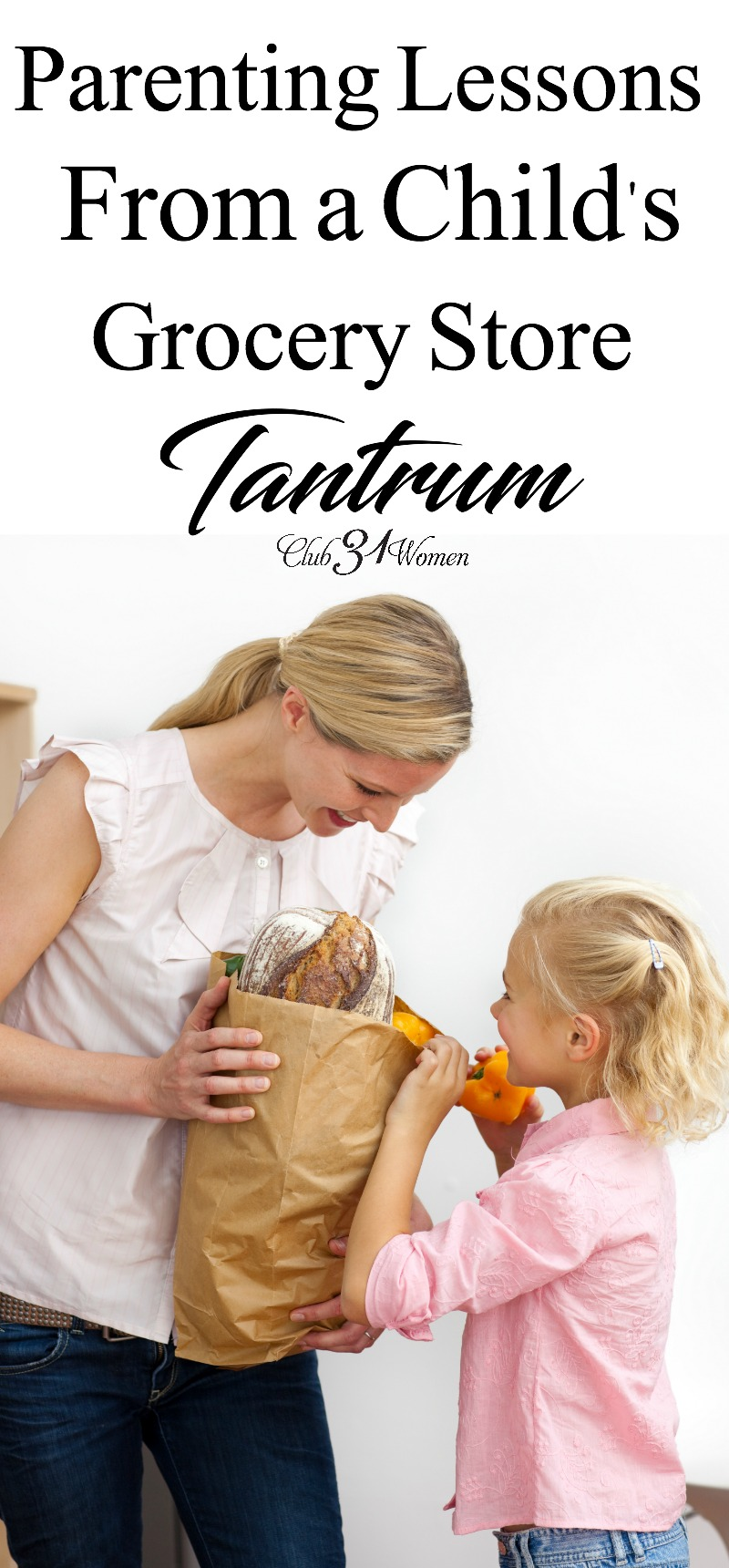 What can you do to prevent that grocery store tantrum in the middle of your shopping trip? A simple adjustment can make for a peaceful trip for all! via @Club31Women