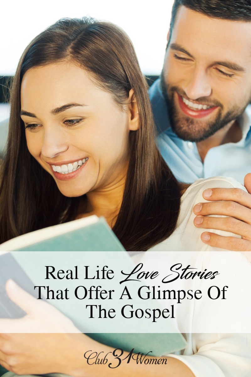 I believe love stories touch a place in our souls because they mirror -- however imperfectly -- the beautiful, redemptive love story that is the Gospel via @Club31Women