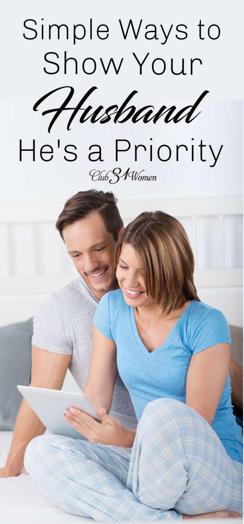 In what ways can we show our husbands we see their needs as a priority, too? Here are some ideas that may help give you some direction.