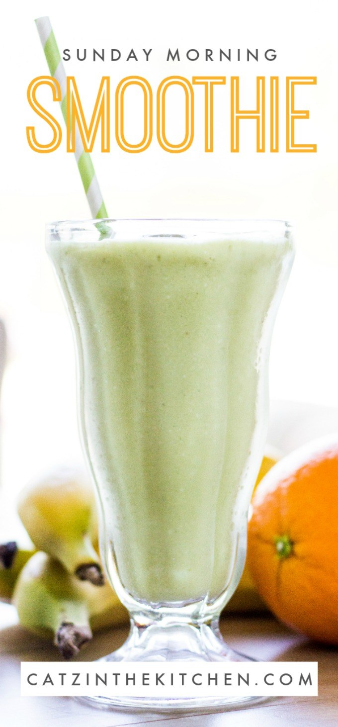 Sunday mornings are a great day for smoothies! Refreshing, quick, and healthy this recipe will put a smile on your face as you smile at the future! via @Club31Women
