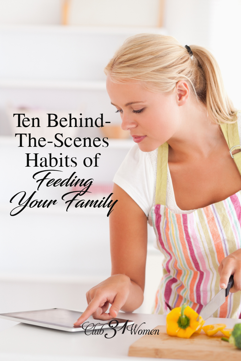Do you stress over what meals to make? Learn how you can get habits in place and experience the joy of feeding your family good, homemade meals. via @Club31Women
