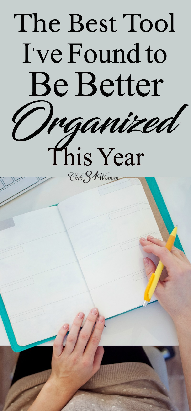I am determined to be better organized this year! I'm so ready for things to run more smoothly and to reduce our stress. And here's the best tool I've found to help! via @Club31Women