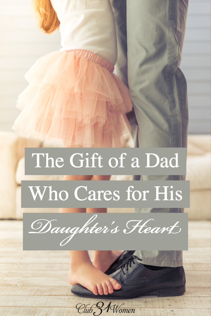 How can a dad engage his daughter and best care for her heart? There are a million ways to do this. He just needs to be intentional and take the time. via @Club31Women