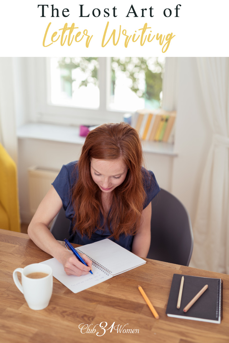 Letter writing isn't something that's common today. But what stories and legacies we can leave when we create conversations through the written word. via @Club31Women