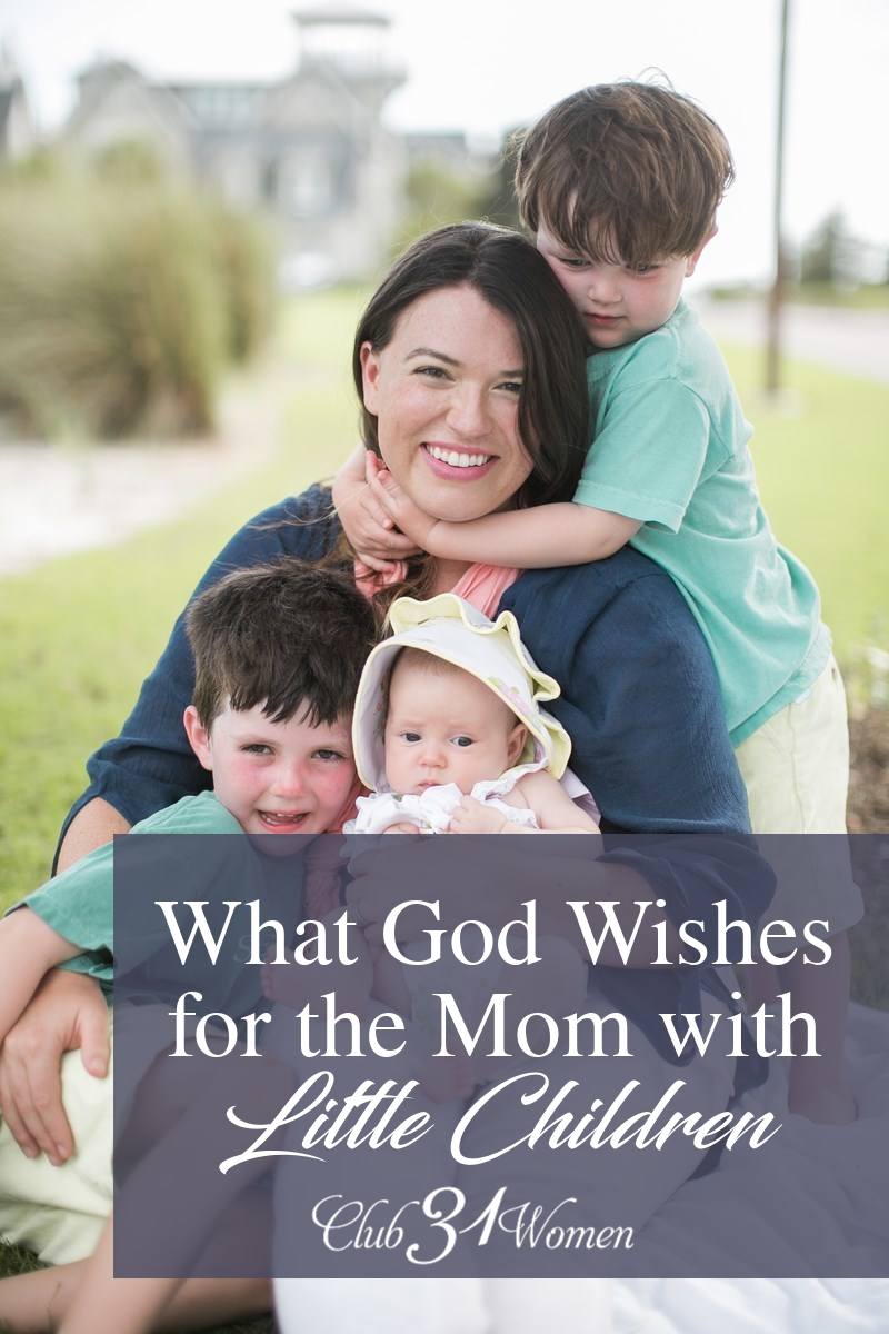 I had no idea that this was what God wanted for me in this season! And the wonder and relief of it all changed everything for me and for our children! via @Club31Women