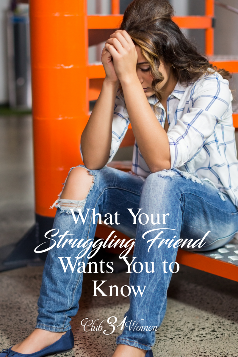 What if the simplest thing can help your struggling friend? Would you reach out? Sometimes it's those simple gestures that make the difference. via @Club31Women