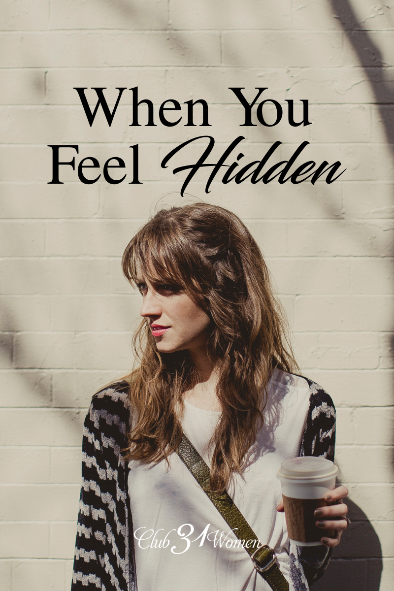 Do you resonate with feeling hidden and wanting more out of the hidden pockets of your day or the hidden stretches of your life? via @Club31Women