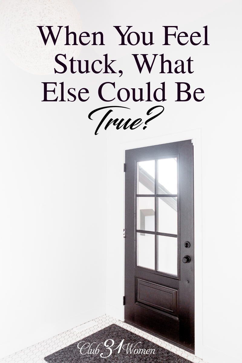 When you feel stuck or overwhelmed, is that the only thing that's true about your situtation? What else could be true that you could work with? via @Club31Women