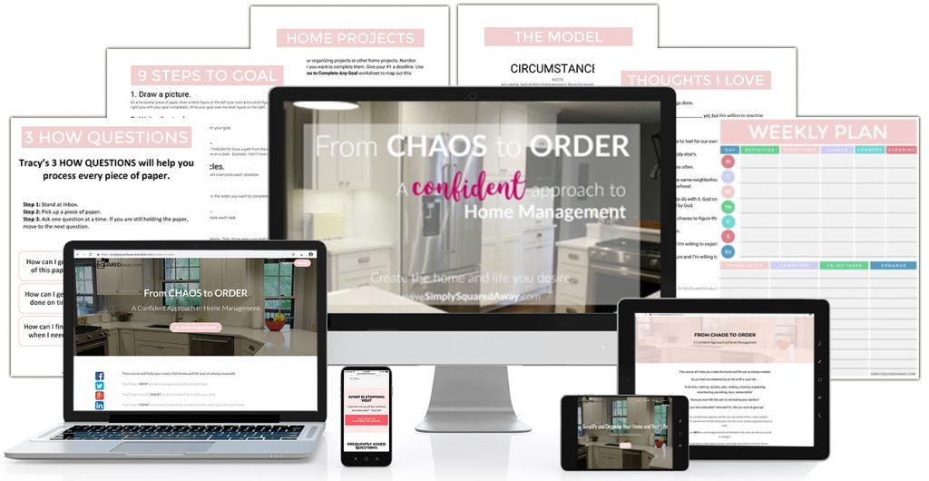 Learn the tools that can help take you from a chaotic home and life to an orderly, organized home and life in the online course From Chaos to Order.